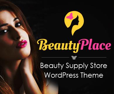 BeautyPlace - Beauty Supply Store WordPress Theme