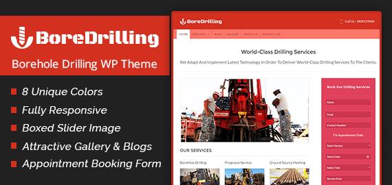 Borehole Drilling WordPress Theme