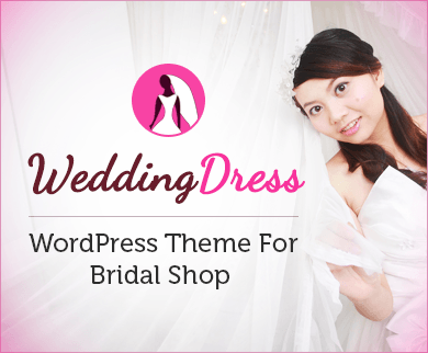 WeddingDress - Bridal Shop WordPress Theme
