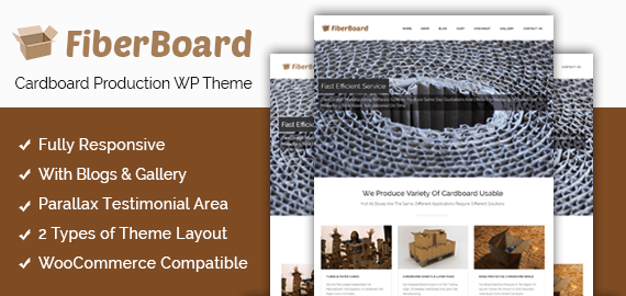 Cardboard Production WordPress Theme