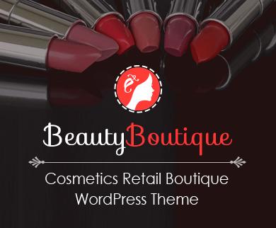 BeautyBoutique - Cosmetics Retail Boutique WordPress Theme