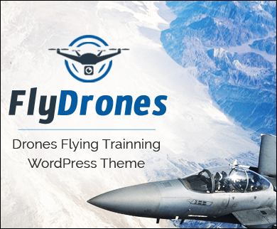 FlyDrones - Drones Flying Training  WordPress Theme