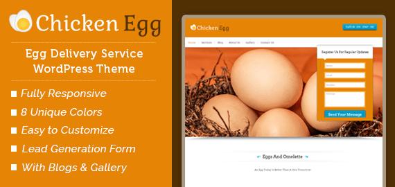 Egg Delivery Service WordPress Theme