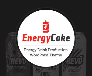 EnergyCoke - Energy Drink Production WordPress Theme