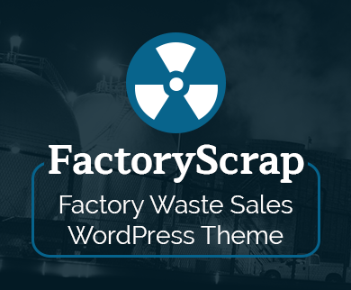 FactoryScrap - Factory & Industrial Waste Sales WordPress Theme
