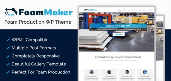 Foam Production WordPress Theme