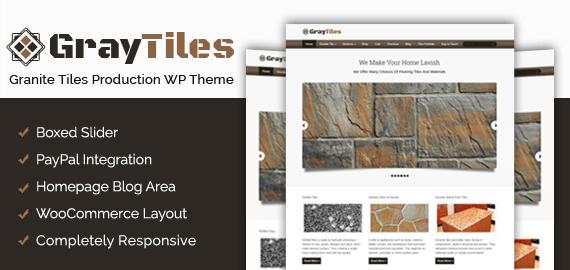 Granite Tiles Production WordPress Theme