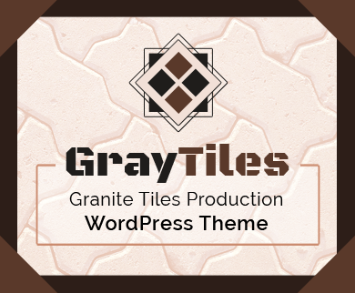 GrayTiles - Granite Tiles Production WordPress Theme