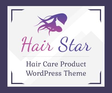 HairStar - Hair Care Product Selling WordPress Theme