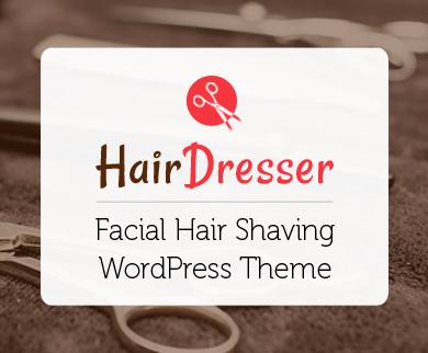 HairDresser - Facial Hair Shaving WordPress Theme