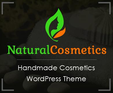 NaturalCosmetics - Handmade Cosmetics WordPress Theme