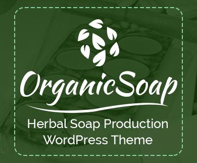 OrganicSoap - Herbal Soap Production WordPress Theme