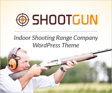 ShootGun - Indoor Shooting Range Company WordPress Theme