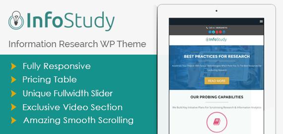 InfoStudy: IT Research Firm WordPress Theme [Free Install]