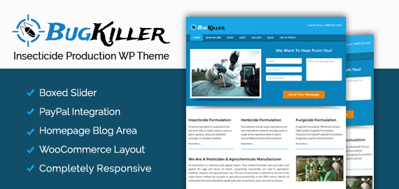 Insecticide Production WordPress Theme