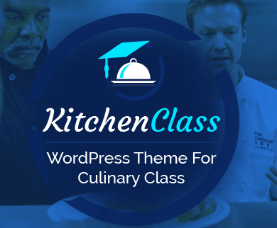 KitchenClass - Culinary Video Class Tutorials WordPress Theme