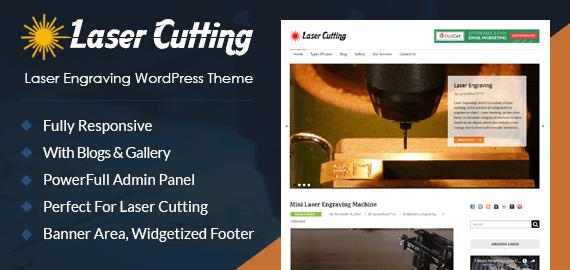 Laser Engraving Website Templates For WordPress | InkThemes