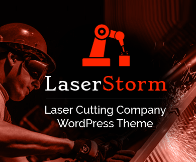 LaserStorm - Laser Cutting & Welding Company WordPress Theme