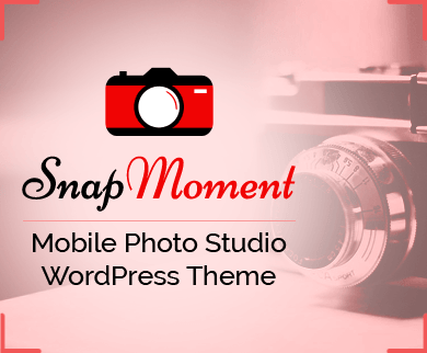 SnapMoment - Mobile Photo Studio WordPress Theme