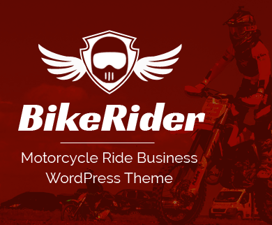 BikeRider - Motorcycle Ride Business WordPress Theme
