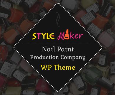 StyleMaker - Nail Polish Manufacturing Company WordPress Theme