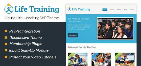 Online Life Coaching WordPress Theme