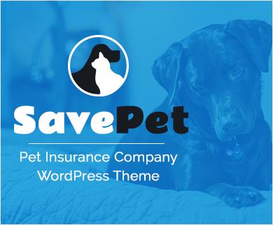SavePet - Pet Insurance Company WordPress Theme