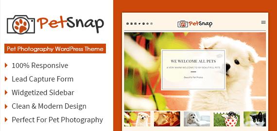 Pet Photography WordPress Theme
