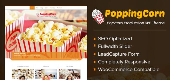 Popcorn Gourmet Production WordPress Theme