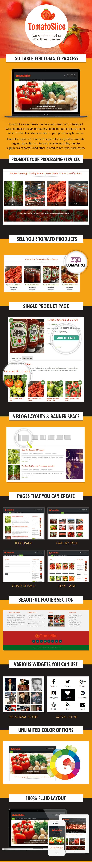 Tomato Processing WordPress Theme Sales Page