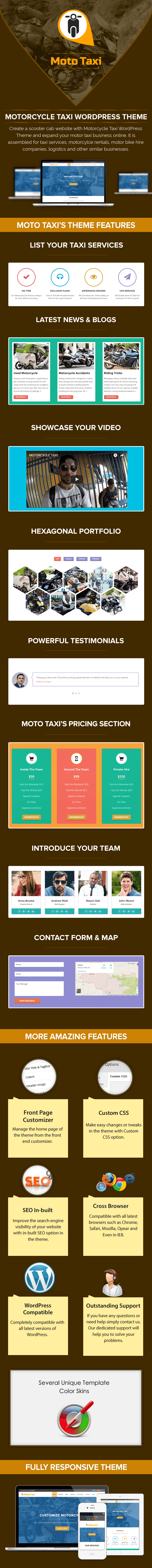 Motorcycle Taxi WP Theme