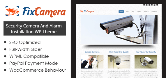 Security Camera And Alarm Installation WordPress Theme