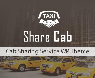 ShareCab - Cab Sharing Service WordPress Theme