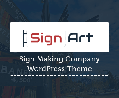 SignArt - Sign Making Company WordPress Theme