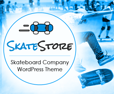 SkateStore - Skateboard Company WordPress Theme