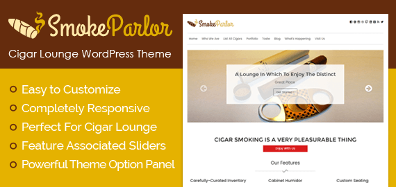Cigar Lounge WordPress Theme
