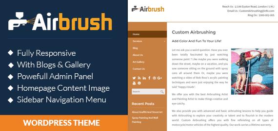 Custom Airbrushing WordPress Theme