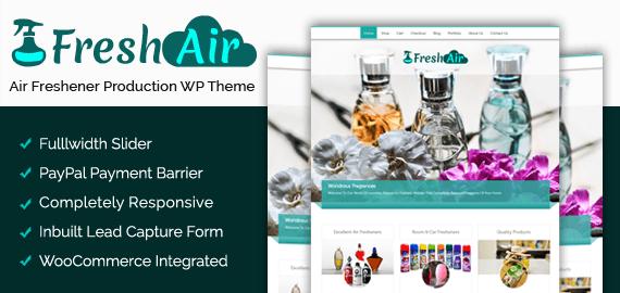 Air Freshener Production WordPress Theme