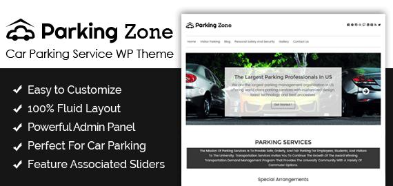 Car Parking Service WordPress Theme