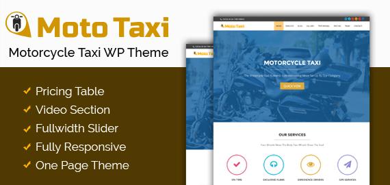 Motorcycle Taxi WordPress Theme