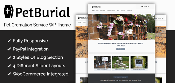 Pet Cremation Service WordPress Theme