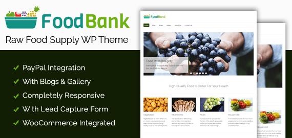 Raw Food Supply WordPress Theme