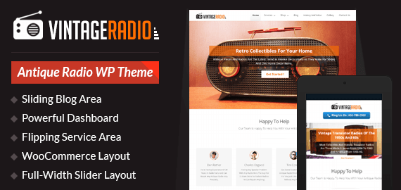 Antique Radios WordPress Theme