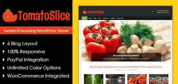 Tomato Processing WordPress Theme