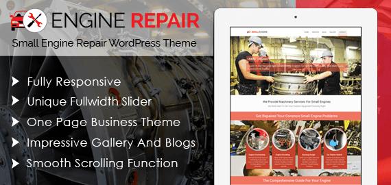 Small Engine Repair WordPress Theme