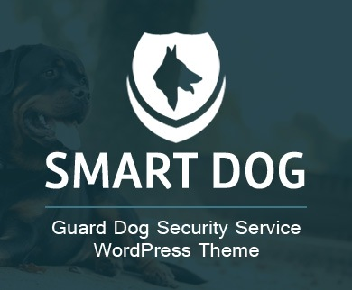 SmartDog - Guard Dog Security Service WordPress Theme