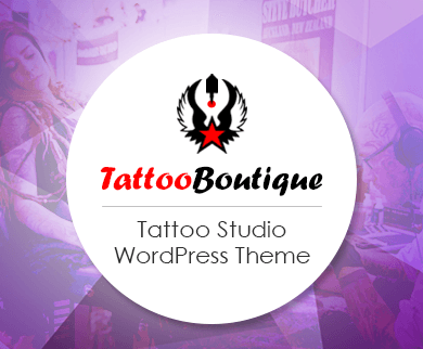 TattooBoutique - Tattoo & Piercing Studio WordPress Theme