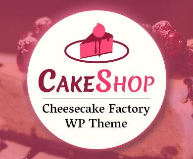CakeShop - Cheesecake Factory WordPress Theme