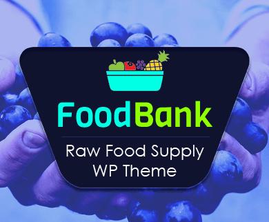 FoodBank - Raw Food Supply WordPress Theme