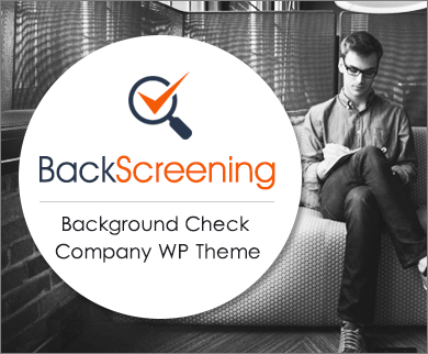 Back Screening - Background Check Company Corporate WordPress Theme
